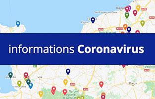 carte interactive Normandie Covid-19